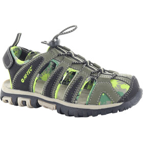 Hi-Tec Cove Sandalias Niños, olive night/lime green